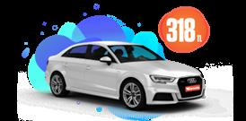 Audi A3 Benzinli Otomatik veya benzeri Günlük 318 TL Araç Kiralama Kampanyası