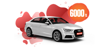 Audi A3 Hatchback Benzinli Otomatik Aylık 6000 TL Araç Kiralama Kampanyası