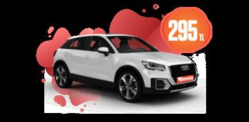 Benzinli Otomatik Audi Q2 veya benzeri Günlük 295 TL Araç Kiralama Kampanyası