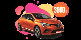 Benzinli, Otomatik Renault Clio veya benzeri Aylık 3960 TL Araç Kiralama Kampanyası