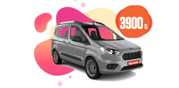 Ford Tourneo Courier veya benzeri, aylık sadece 3.900 TL! Araç Kiralama Kampanyası