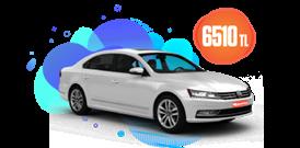 Volkswagen Passat Dizel Otomatik ve benzeri, KDV Dahil Aylık Sadece 6.510 TL Araç Kiralama Kampanyası