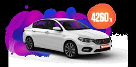Fiat Egea Dizel, Manuel Aylık 4260 TL! Araç Kiralama Kampanyası