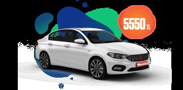 Fiat Egea Dizel Otomatik  veya benzeri, Aylık Sadece 5.550 TL Araç Kiralama Kampanyası