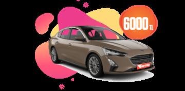 Ford Focus Dizel Otomatik ve  benzeri, Aylık 6000 TL Araç Kiralama Kampanyası