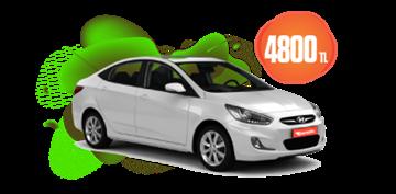 Hyundai Accent ve Benzeri Aylık Sadece 4800 TL Araç Kiralama Kampanyası