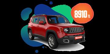 Jeep Renegade Dizel, Otomatik Aylık  8.910 TL Araç Kiralama Kampanyası