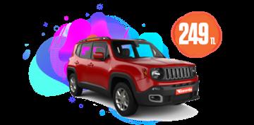 Jeep Renegade Benzinli, Manuel veya benzeri Günlük 249 TL Araç Kiralama Kampanyası