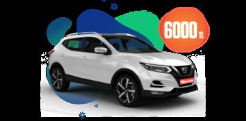 Nissan Qashqai Dizel Otomatik ve benzeri, Aylık 6000 TL Araç Kiralama Kampanyası
