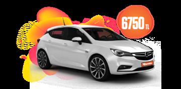 Opel Astra Hatchback Dizel, Otomatik Aylık Sadece 6.750 TL Araç Kiralama Kampanyası