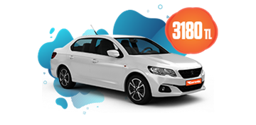 Peugeot 301 Dizel Manuel ve benzeri, KDV Dahil Aylık Sadece 3.180 TL Araç Kiralama Kampanyası