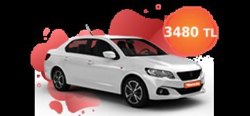 Peugeot 301 ve benzeri, aylık sadece 3.480 TL Araç Kiralama Kampanyası
