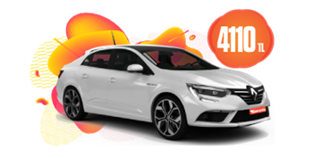 Renault Megane Dizel, Manuel ve benzeri Aylık 4110 TL! Araç Kiralama Kampanyası