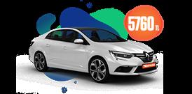 Dizel Otomatik Renault Megane ve benzeri, aylık sadece 5760 TL Araç Kiralama Kampanyası