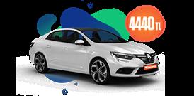 Renault Megane Dizel Otomatik  ve benzeri, KDV Dahil Aylık Sadece 4.440 TL Araç Kiralama Kampanyası