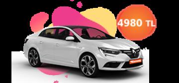 Renault Megane ve benzeri, aylık sadece 4.980 TL Araç Kiralama Kampanyası