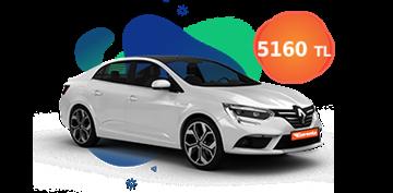 Renault Megane Dizel Otomatik ve benzeri, KDV Dahil Aylık Sadece 5.160 TL Araç Kiralama Kampanyası