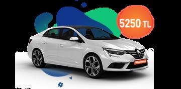 Renault Megane Dizel Otomatik ve benzeri, KDV Dahil Aylık Sadece 5.250 TL Araç Kiralama Kampanyası