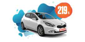 Kia Ceed dizel, manuel veya benzeri araçlar günlük 219 TL! Araç Kiralama Kampanyası