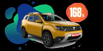 Dacia Duster Dizel, Manuel Günlük Sadece 168 TL! Tek Yön Ücreti ise 2 TL. Araç Kiralama Kampanyası