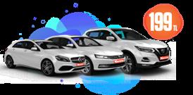 Nissan Qashqai, Mercedes A Class ve Volkswagen Passat 199 TL Araç Kiralama Kampanyası