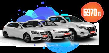 Nissan Qashqai, Mercedes A Class ve Volkswagen Passat  Aylık 5.970 TL Araç Kiralama Kampanyası