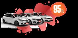 Düşük Yakıt Maliyetli Dizel Araçlar Günlük Sadece 95 TL Araç Kiralama Kampanyası