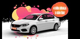 Fiat Egea Dizel Manuel  ve benzerini hafta içi 4 Gün Kirala 3 Gün Öde Araç Kiralama Kampanyası