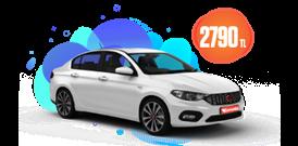 Fiat Egea Dizel, Manuel Aylık Sadece 2790 TL Araç Kiralama Kampanyası