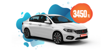 2021 Model Fiat Egea Dizel, Manuel Aylık Sadece 3.540 TL Araç Kiralama Kampanyası