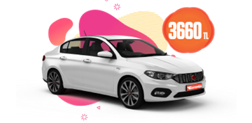 Fiat Egea Dizel, Manuel Aylık Sadece 3660 TL Araç Kiralama Kampanyası