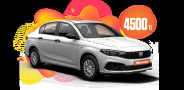 Fiat Egea Benzinli, Manuel Aylık KDV Dahil 4.500 TL Araç Kiralama Kampanyası