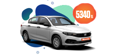 2021 Model Fiat Egea Dizel, Manuel Aylık Sadece 5.340 TL Araç Kiralama Kampanyası
