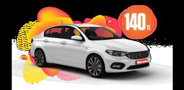Fiat Egea Benzinli, Manuel ve benzeri Günlük  Sadece 140 TL Araç Kiralama Kampanyası