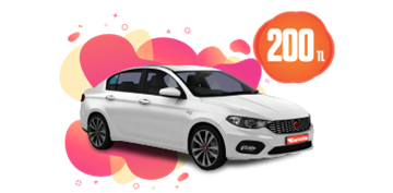 Fiat Egea Dizel, Manuel Hafta İçi 200 TL Hafta Sonu 1 TL Araç Kiralama Kampanyası