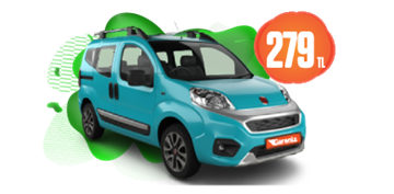 Fiat Fiorino Dizel, Manuel Günlük Sadece 279 TL! Araç Kiralama Kampanyası