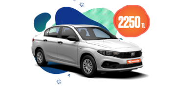 Dizel, Otomatik Fiat Egea 18 Günlük Kiralamalar 2250 TL Araç Kiralama Kampanyası