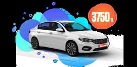 Fiat Egea Dizel, Manuel veya benzeri Aylık Sadece 3750 TL Araç Kiralama Kampanyası