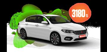 Fiat Egea Benzinli, Manuel  veya benzeri Araçlar Aylık 3180 TL Araç Kiralama Kampanyası