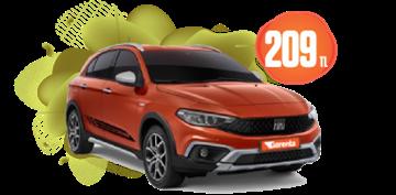 Fiat Egea Cross Benzinli, Manuel Günlük Sadece 209 TL! Araç Kiralama Kampanyası