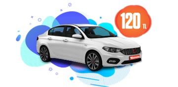 Fiat Egea Benzinli Manuel veya benzeri Günlük 120 TL Araç Kiralama Kampanyası