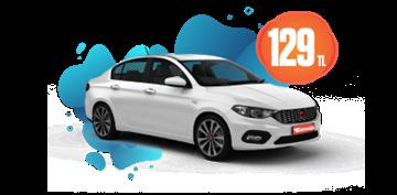 Fiat Egea Dizel, Manuel Günlük Sadece 129 TL Araç Kiralama Kampanyası