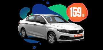 Fiat Egea Benzinli, Manuel Günlük Sadece 159 TL! Araç Kiralama Kampanyası