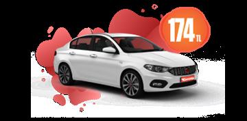 Fiat Egea Benzinli Manuel veya benzeri Günlük 174 TL Araç Kiralama Kampanyası