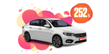 Fiat Egea Dizel, Otomatik ve benzeri Günlük 252 TL Araç Kiralama Kampanyası