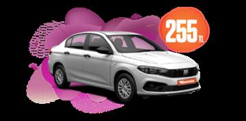 Fiat Egea Benzinli, Manuel Günlük Sadece 255 TL! Araç Kiralama Kampanyası