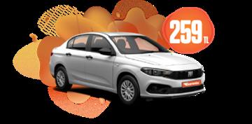 Fiat Egea Benzinli, Manuel Günlük Sadece 259TL! Araç Kiralama Kampanyası