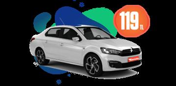 Fiat Egea Dizel, Manuel Günlük 119 TL Araç Kiralama Kampanyası