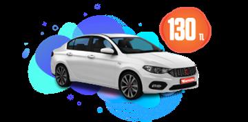 Fiat Egea Dizel, Manuel Günlük 130 TL Araç Kiralama Kampanyası