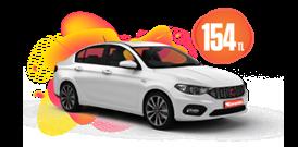 Fiat Egea Dizel, Manuel Günlük 154 TL Araç Kiralama Kampanyası